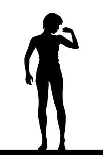スリムな日本人女性のシルエットの写真素材 [FYI04112870]