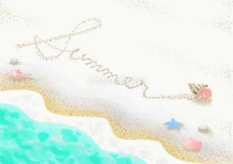 夏の海辺のイラスト素材 [FYI04112985]