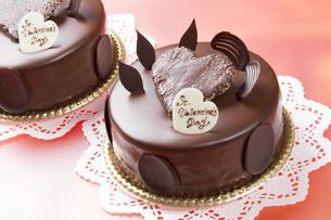 バレンタインのチョコレートケーキの写真素材 [FYI04113181]