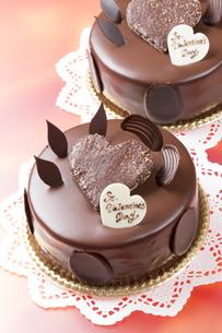 バレンタインのチョコレートケーキの写真素材 [FYI04113182]