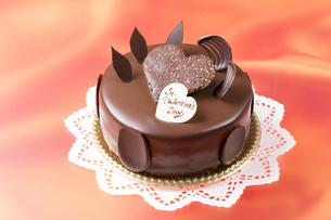 バレンタインのチョコレートケーキの写真素材 [FYI04113183]