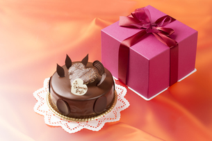 バレンタインのチョコレートケーキの写真素材 [FYI04113185]