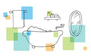 バスルーム手描き線画のイラスト素材 [FYI04113459]