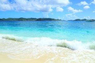 阿嘉島 ニシバマビーチの写真素材 [FYI04113630]