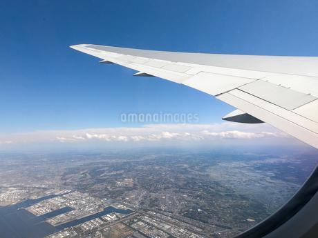飛行機から見た風景の写真素材 [FYI04114359]
