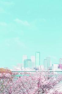 春の大阪ビジネスパークの写真素材 [FYI04114727]