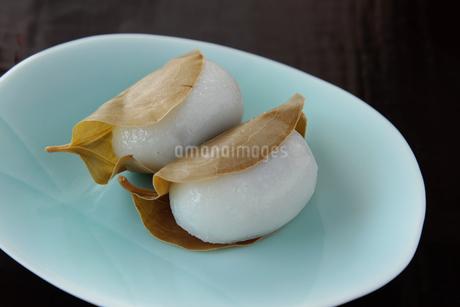サンキライの葉の柏餅 の写真素材 [FYI04114812]