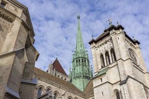 スイス、ジュネーブ旧市街、サン・ピエール大聖堂の写真素材 [FYI04114852]