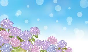 紫陽花とシャボン玉のイラスト素材 [FYI04115455]