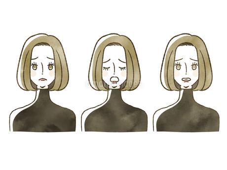 女性-表情のイラスト素材 [FYI04115460]