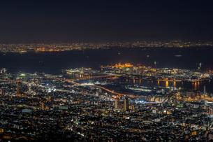 六甲から見た神戸の夜景の写真素材 [FYI04115493]