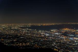 六甲から見た神戸の夜景の写真素材 [FYI04115494]