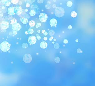 しゃぼん玉と青背景のイラスト素材 [FYI04115681]