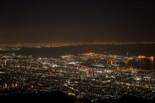六甲から見た神戸の夜景の写真素材 [FYI04115706]