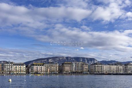 スイス、ジュネーブのレマン湖風景の写真素材 [FYI04115943]