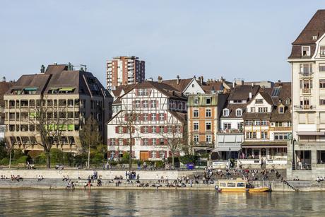 スイス、バーゼル市街の写真素材 [FYI04115951]