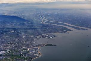 空から見た木曽三川の写真素材 [FYI04116063]