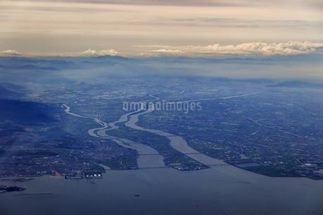 空から見た木曽三川の写真素材 [FYI04116064]