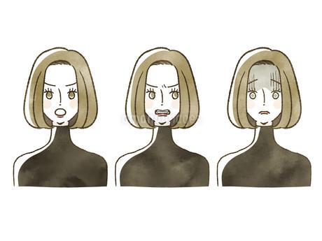 女性-表情のイラスト素材 [FYI04116283]
