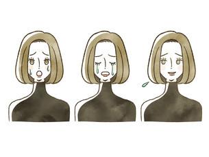 女性-表情のイラスト素材 [FYI04116284]
