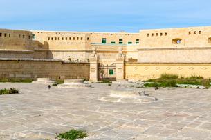 聖エルモ砦の門と防御壁の写真素材 [FYI04116908]