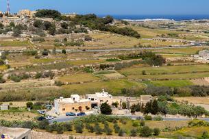 イムディーナの果樹園と地中海の写真素材 [FYI04116920]