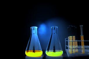 試験管とフラスコの背景用素材。実験、開発、試験、検査イメージの写真素材 [FYI04116946]