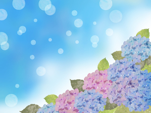 紫陽花とシャボン玉のイラスト素材 [FYI04117064]