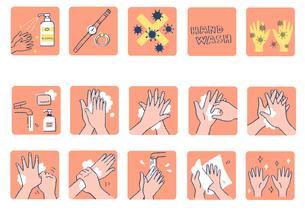 正しい手の洗い方 2のイラスト素材 [FYI04117460]