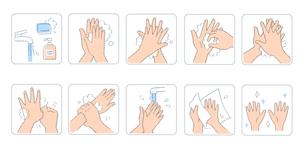 正しい手の洗い方 1のイラスト素材 [FYI04117462]