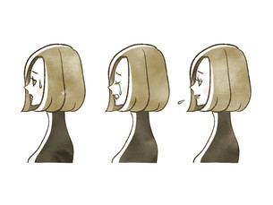 女性-表情(横顔)のイラスト素材 [FYI04117556]