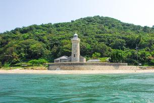船の上から男木島灯台の写真素材 [FYI04117596]