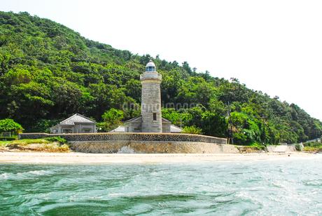 男木島灯台の写真素材 [FYI04117597]