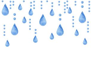 水彩の雨粒のイラスト素材 [FYI04117631]