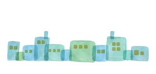 水彩の街並みのイラスト素材 [FYI04117635]
