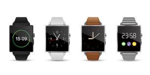 スマートウォッチ腕時計4色のベクターイラスト白バックのイラスト素材 [FYI04117652]