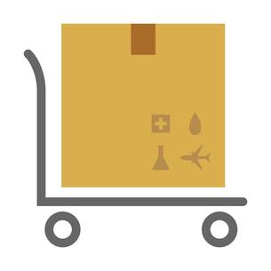 荷物ダンボールと配送台車のベクターイラストのイラスト素材 [FYI04117665]