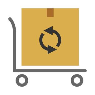 荷物ダンボールと配送台車のベクターイラストのイラスト素材 [FYI04117667]