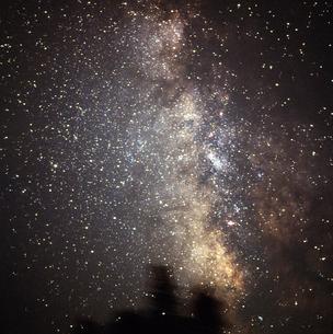 天の川 いて座と木星の写真素材 [FYI04117701]