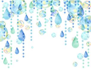 雨粒とシャボン玉のイラスト素材 [FYI04117708]