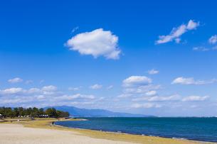 琵琶湖畔なぎさ公園風景の写真素材 [FYI04117742]