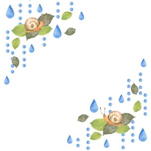 カタツムリと雨のイラスト素材 [FYI04118014]