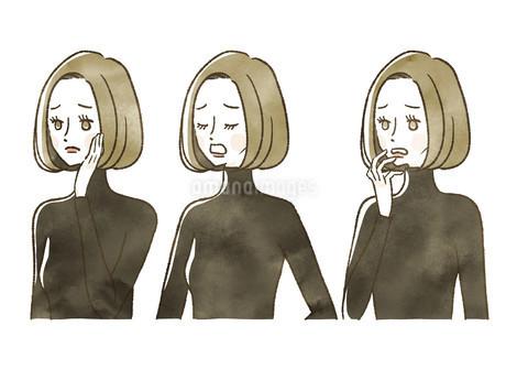 女性-表情のイラスト素材 [FYI04118138]