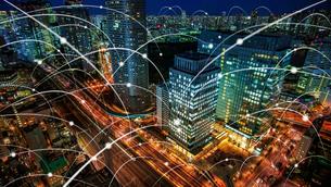 5G-第5世代移動通信システムと東京の写真素材 [FYI04118247]