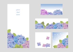 紫陽花フレーム&バナーのイラスト素材 [FYI04118282]