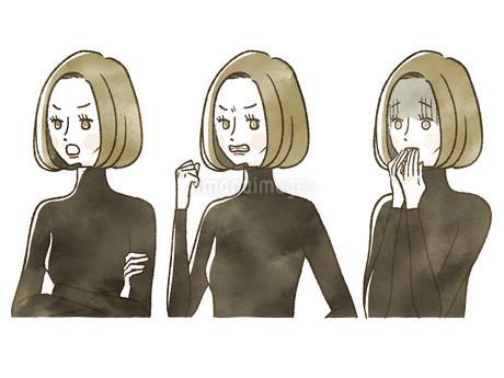 女性-表情のイラスト素材 [FYI04118752]