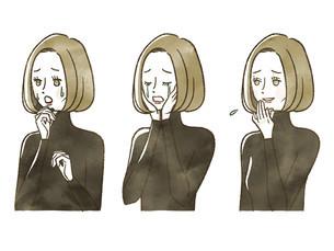 女性-表情のイラスト素材 [FYI04118753]