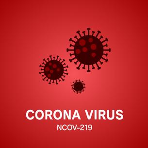 新型コロナウイルスのアイコンのイラスト素材 [FYI04118985]
