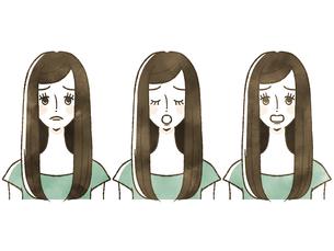女性-表情のイラスト素材 [FYI04119556]