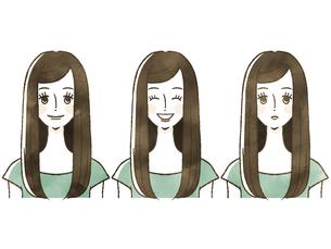 女性-表情のイラスト素材 [FYI04119557]